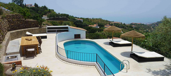 "Renovation / New construction of the pool area. ""Finca View14"" / Malaga"